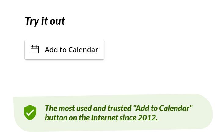add-to-calendar button jimdo website